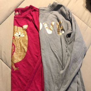 Other - 2 girls long sleeved tops